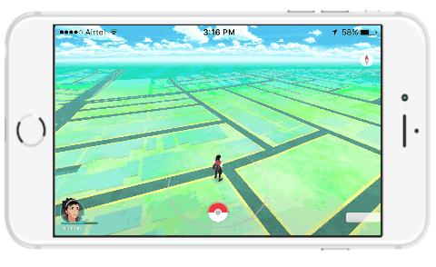 play pokemon go in lland scape mode