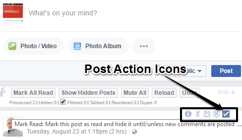 post action icons