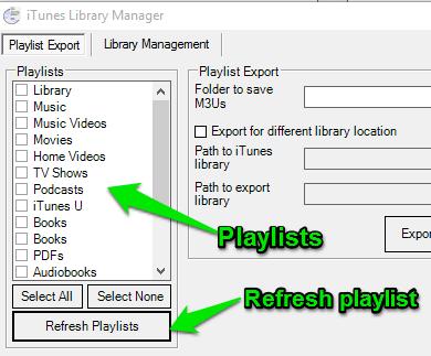 refresh playlists