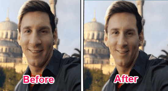 remove angles from selfies
