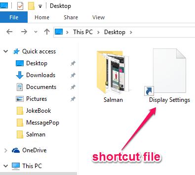 shortcut file