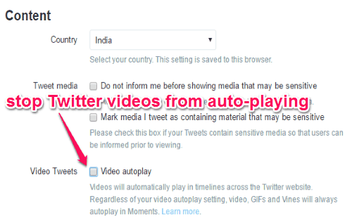 stop twitter autoplay videos