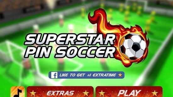 superstar pin soccer main menu