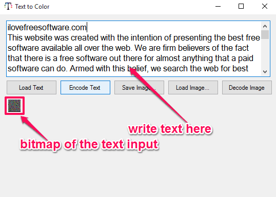 text to color