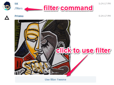 type filter command
