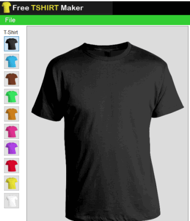 use a color for t-shirt