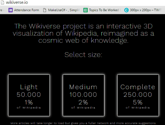 wikiverse selection of page
