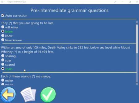English grammar quiz questions