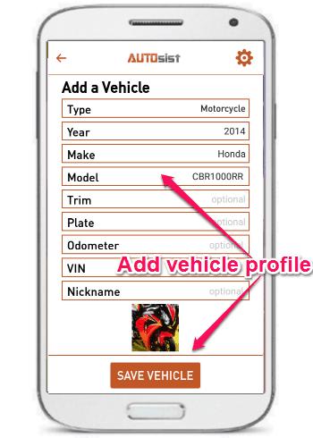 add a vehicle