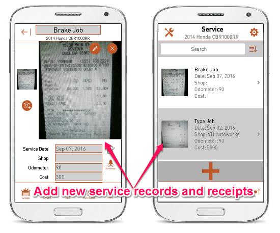 add service record