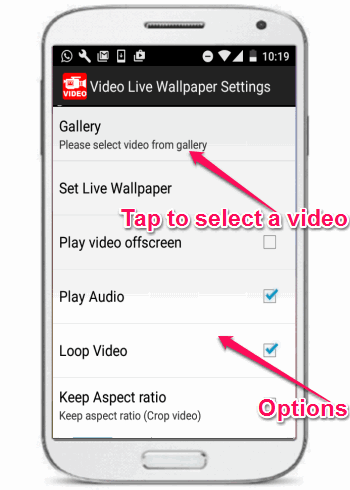 How to Convert Video to Live Wallpaper in Android