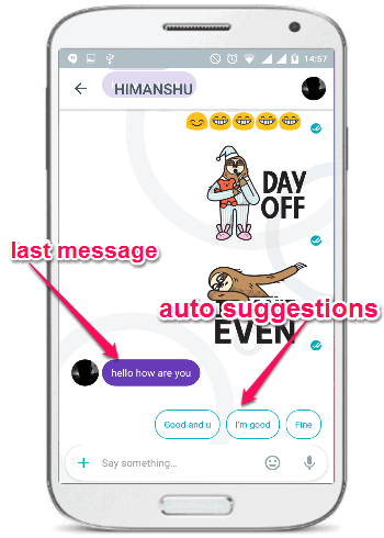 auto-suggestions