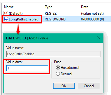 change name and set value data 1
