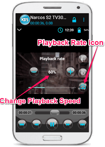 chnage playback speed of youtube videos