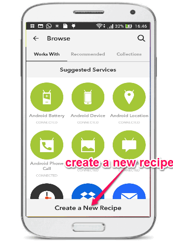 create new recipe