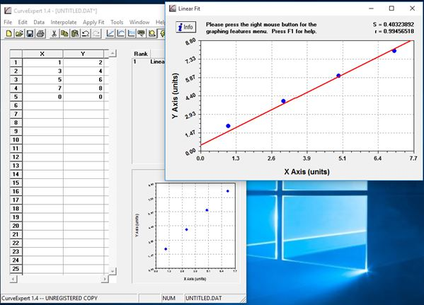 curve fitting software windows 10 2