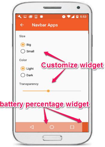 customize widget