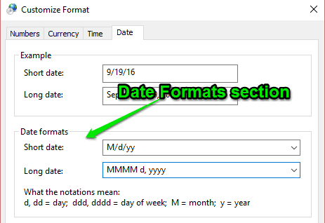 date-formats