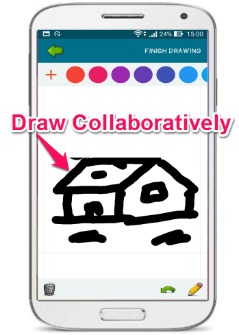 draw collaboratively on android