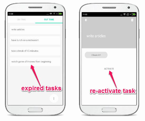 expired tasks
