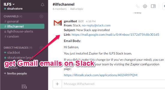 get-gmail-emails-on-slack