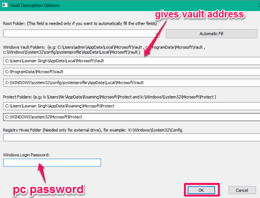 give-windows-vault-address-and-windows-password