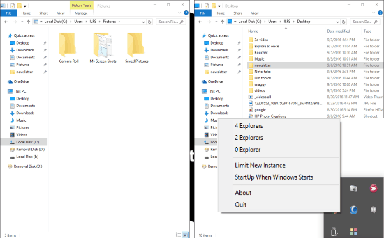 Explore At Once: Free software to open auto resized File Explorer Windows