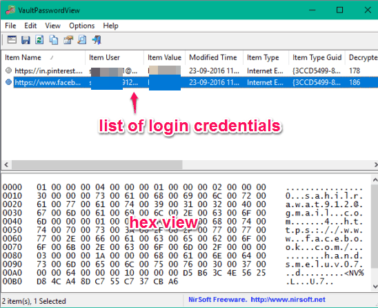 list-of-login-credentials