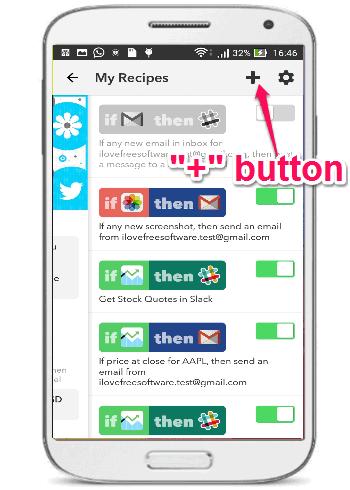 plus button