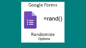 randomize Google Forms response options