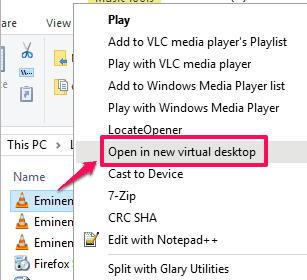 right click menu option