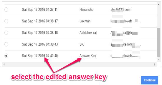 select-the-answer-key