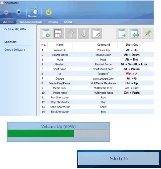 Shortcutor- interface