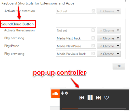 SoundCloud Button Chrome extension