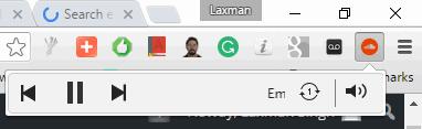 SoundCloud Controller Chrome extension