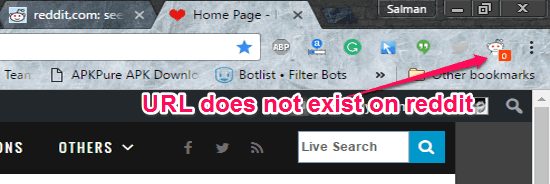 Reddit Chrome Extension to Find if URL Exists on Reddit