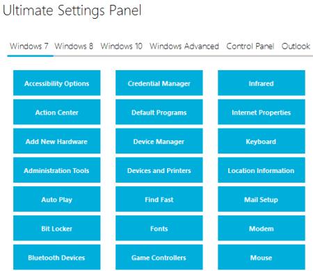 Windows 7 tab