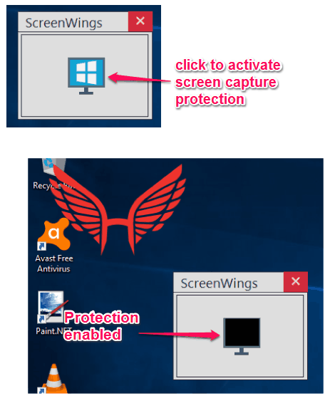 activate screen capture protection
