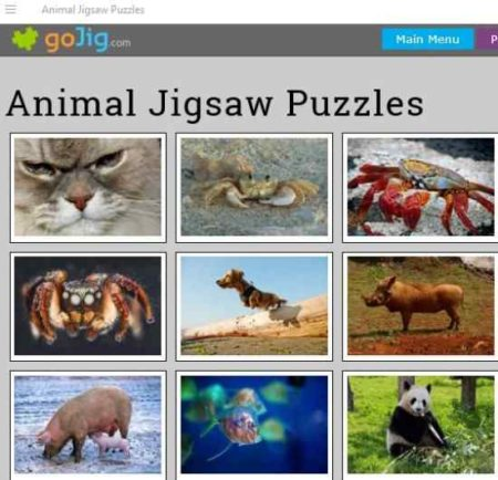 animal jigsaw puzzles home