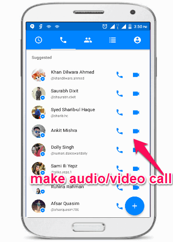 audio video call