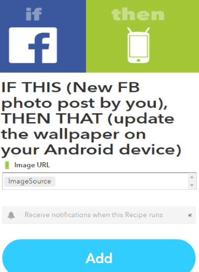 auto update Android wallpaper with every new Facebook photo post