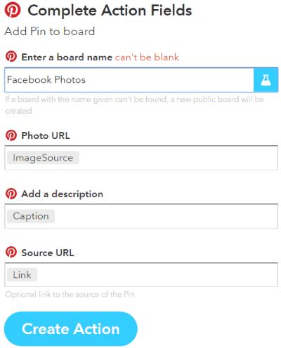 automatically post Facebook photos on Pinterest