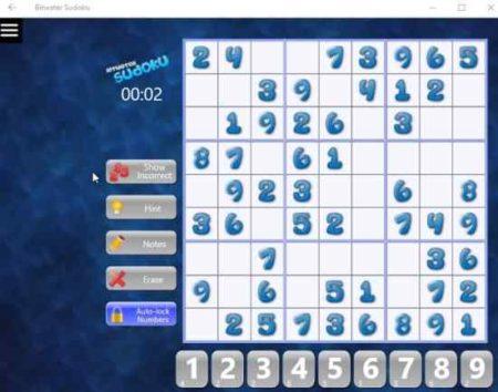 bitwater sudoku game board
