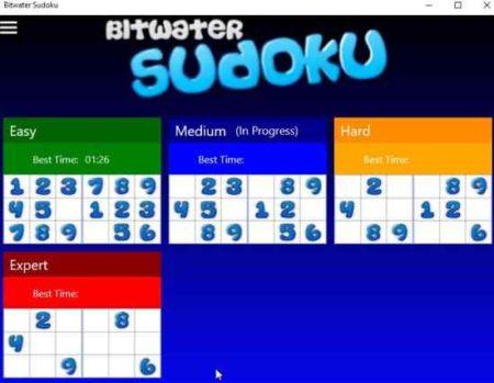 bitwater sudoku home