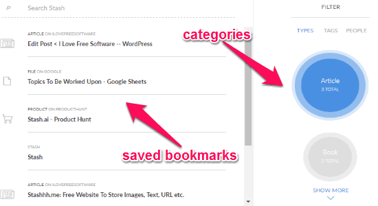 bookmarking service