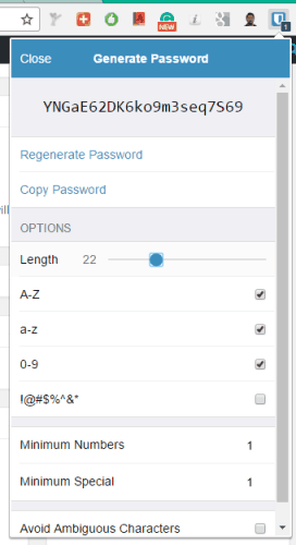 built-in password generator