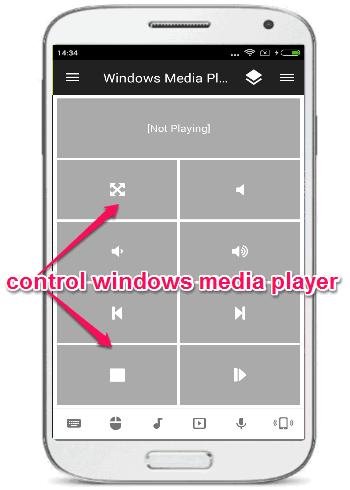 control windows media player