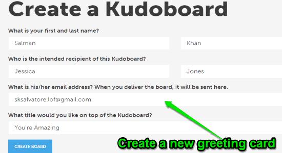 create a kudoboard