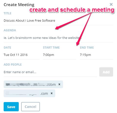 create meetings