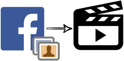 create videos from Facebook photos